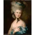 """Схема вышивки s76-001 """"Портрет дамы в голубом"""""""