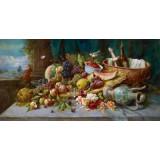 """Схема вышивки s90-001 """"Натюрморт с фруктами"""""""