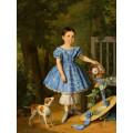 """Схема вышивки s98-004 """"Девочка в голубом платье"""""""