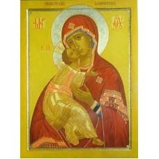 """Схема вышивки s01b-003 икона  """"Пресвятая Богородица Владимирская"""""""