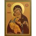 """Схема вышивки s01b-004 икона  """"Пресвятая Богородица Владимирская"""""""