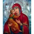 """Схема вышивки s01b-005 икона  """"Пресвятая Богородица Владимирская"""""""