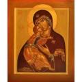 """хема вышивки s01b-007 икона  """"Пресвятая Богородица Владимирская"""""""