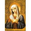 """хема вышивки s01b-012 икона  """"Пресвятая Богородица Умиление"""""""