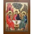 """хема вышивки s01s-011 икона  """"Святая Троица"""""""