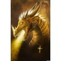 """Схема вышивки s02dr-001 """"Золотой дракон"""""""