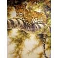 """Схема вышивки s02le-003 """"Леопард на дереве"""""""
