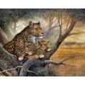 """Схема вышивки s02le-010 """"Леопарды"""""""