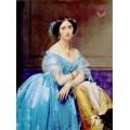 """Схема вышивки s03p-011 """"Женщина в голубом"""""""