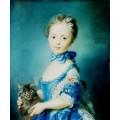 """Схема вышивки s03p-012 """"Портрет девочки с кошкой"""""""