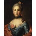 """Схема вышивки s17-001 """"Портрет неизвестной в темно-голубом платье"""""""