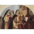 """Схема вышивки s25-013 """"Монахини монастыря Святого Сердца"""""""
