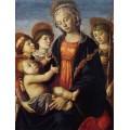 """Схема вышивки s30-003 """"Мадонна с младенцем и двумя ангелами"""""""