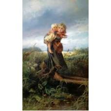 """Схема вышивки s37-001 """"Дети, бегущие от грозы"""""""