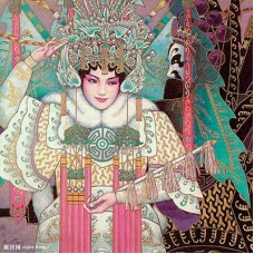 """Схема вышивки s60-010 """"Пекинская опера"""""""