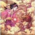 """Схема вышивки s60-037 """"Девушка и дракрн"""""""