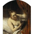 "Схема вышивки s63-006 ""Девушка в кровати"""