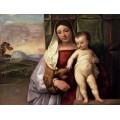 "Схема вышивки s66-006 ""Мадонна с младенцем"""